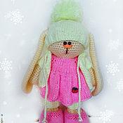 Куклы и игрушки ручной работы. Ярмарка Мастеров - ручная работа Вязаный заяц в стиле тильда. Handmade.