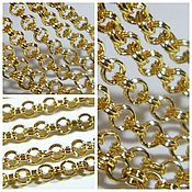 Материалы для творчества handmade. Livemaster - original item Rolo chain 4 mm color gold rhodium platedKorea,(N05). meter. Handmade.