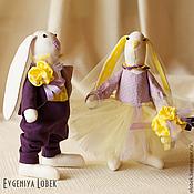 """Свадебный салон ручной работы. Ярмарка Мастеров - ручная работа Свадебные зайцы """"Лимонно-лавандовая свадьба"""". Handmade."""