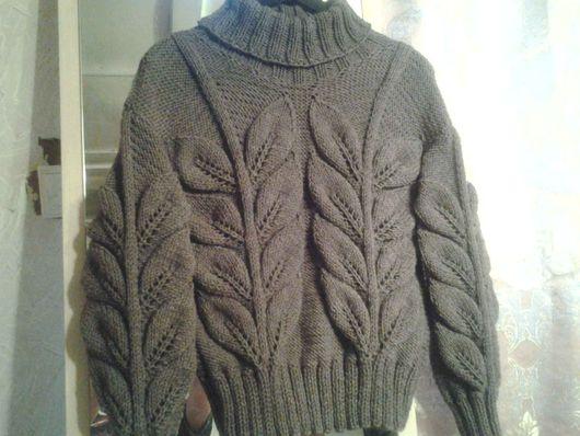 Кофты и свитера ручной работы. Ярмарка Мастеров - ручная работа. Купить Кофточка с листьями. Handmade. Коричневый