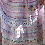 Одежда handmade. Livemaster - original item Boho dress soft pink cotton sewing lace. Handmade.
