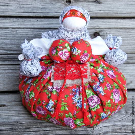 """Народные куклы ручной работы. Ярмарка Мастеров - ручная работа. Купить Куколка-оберег """"Кубышка-Травница"""". Handmade. Разноцветный"""