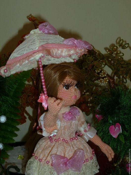 Коллекционные куклы ручной работы. Ярмарка Мастеров - ручная работа. Купить Вязаная кукла крючком Маленькая леди. Handmade.