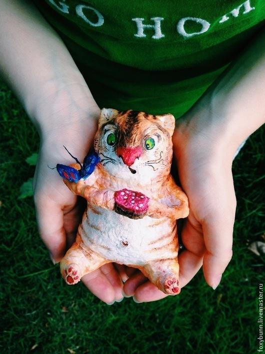 Игрушки животные, ручной работы. Ярмарка Мастеров - ручная работа. Купить Ватный кот. Handmade. Рыжий, котик, ватная игрушка