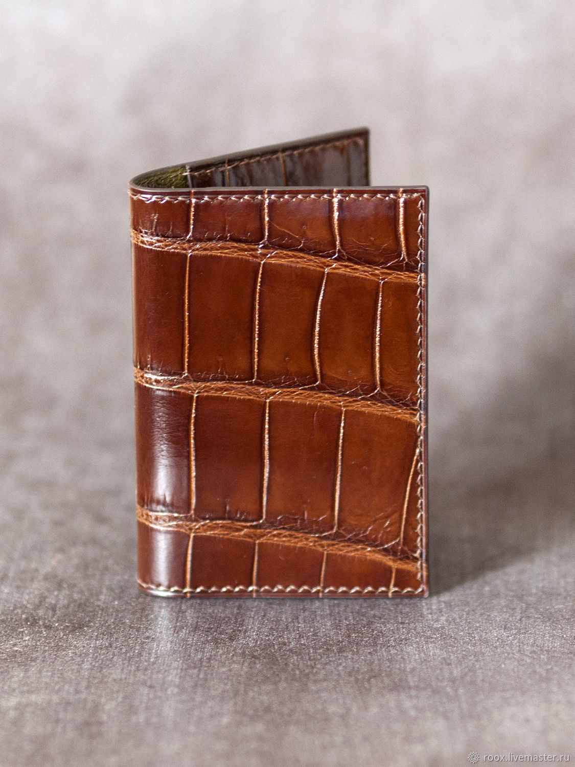 Cardholder crocodile leather, Business card holders, Moscow,  Фото №1