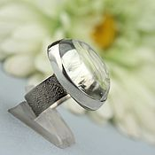 handmade. Livemaster - original item Ring with prasiolite. Silver.. Handmade.