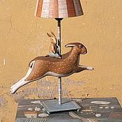 """Для дома и интерьера ручной работы. Ярмарка Мастеров - ручная работа Лампа """"Трубкозуб на зайце"""". Handmade."""