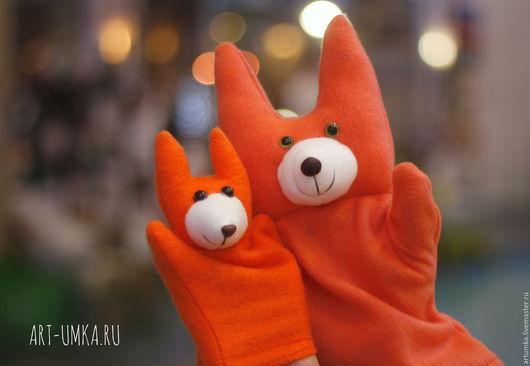 """Игрушки животные, ручной работы. Ярмарка Мастеров - ручная работа. Купить """"Ручные звери""""Перчаточная игрушка для кукольного театра. Handmade. игрушка"""
