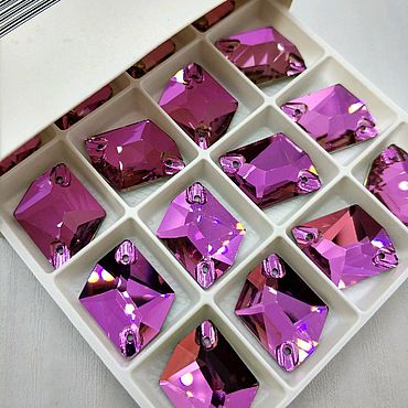 Материалы для творчества. Ярмарка Мастеров - ручная работа 13х17мм Космик люкс цвет Роза. Handmade.