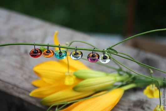 Куклы и игрушки ручной работы. Ярмарка Мастеров - ручная работа. Купить Глазки цветные стекло (Германия). Handmade. Стеклянные глазки