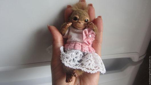 Куклы-младенцы и reborn ручной работы. Ярмарка Мастеров - ручная работа. Купить Мини реборн обезьянка Рика 11 см. Handmade.