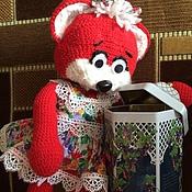 Мягкие игрушки ручной работы. Ярмарка Мастеров - ручная работа Нежный красный медвежонок-обнимашка. Handmade.