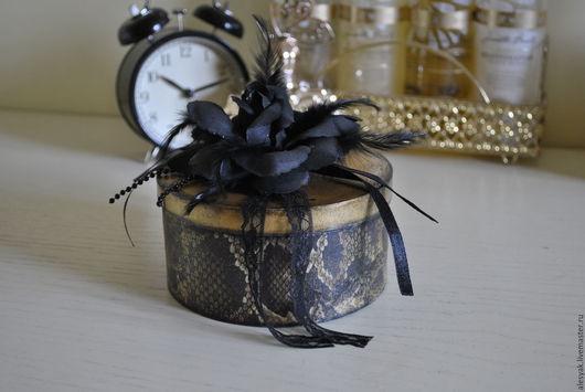 Шкатулки ручной работы. Ярмарка Мастеров - ручная работа. Купить Шкатулка для украшений деревянная декупаж леопард черый роза. Handmade.