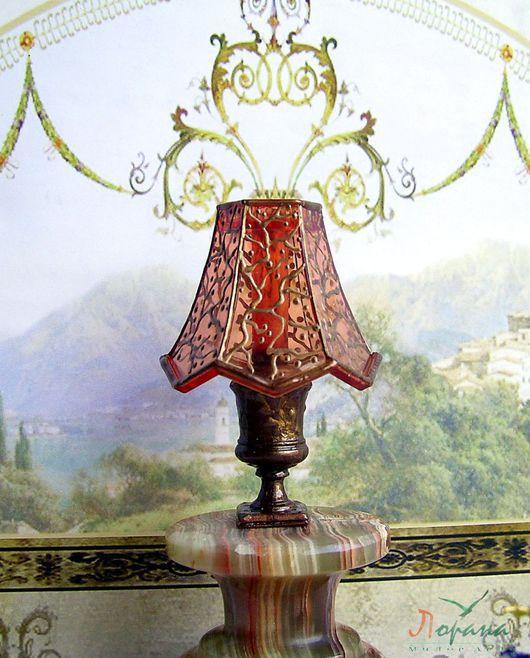 Миниатюра ручной работы. Ярмарка Мастеров - ручная работа. Купить Лампа декоративная для кукольных домиков.. Handmade. Разноцветный, лампа для кукол