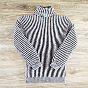 Одежда handmade. Livemaster - original item Fleece turtleneck sweater, light grey (No. №695). Handmade.