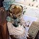 Мишки Тедди ручной работы. Ярмарка Мастеров - ручная работа. Купить Росинка. Handmade. Оливковый, Алёна Жиренкина, голубое платье