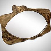 """Для дома и интерьера ручной работы. Ярмарка Мастеров - ручная работа Зеркало """"Око"""" из карагача. Handmade."""