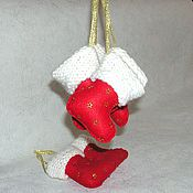 """Подарки к праздникам ручной работы. Ярмарка Мастеров - ручная работа Елочная игрушка """"Новогодний сапожок"""". Handmade."""