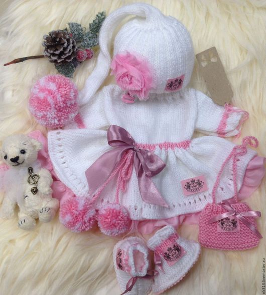 """Одежда для кукол ручной работы. Ярмарка Мастеров - ручная работа. Купить """"Розовые сны-2"""". Комплект одежды для куклы. Handmade."""