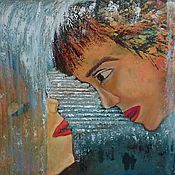 """Картины и панно ручной работы. Ярмарка Мастеров - ручная работа Картина маслом """"Первые свидания"""", авторская. картина. абстракция. Handmade."""