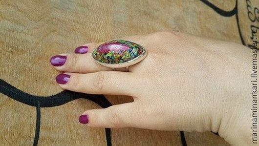 Кольца ручной работы. Ярмарка Мастеров - ручная работа. Купить Кольцо Багдадский шелк с перегородчатой эмалью. Handmade. Комбинированный
