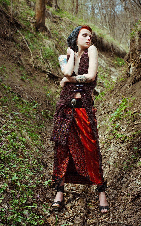 Long Red Silk Ethnic Skirt, Skirts, Rostov-on-Don,  Фото №1