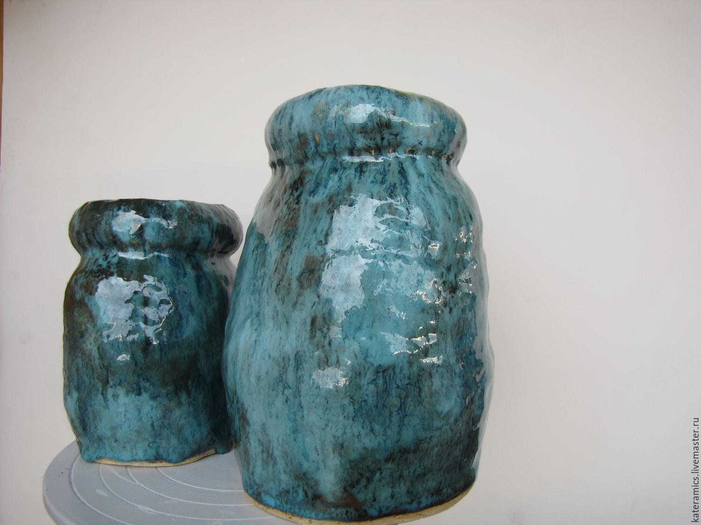 Керамические вазы ручной лепки. Словно пена морская, Вазы, Москва,  Фото №1