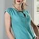 Платья ручной работы. Ярмарка Мастеров - ручная работа. Купить Платье Codino. Handmade. Бирюзовый, платье летнее, пошив на заказ