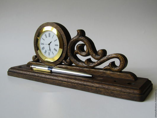 Часы для дома ручной работы. Ярмарка Мастеров - ручная работа. Купить Часы настольные резные. Handmade. Коричневый, резьба по дереву