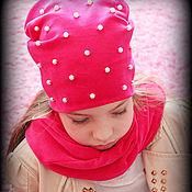 """Работы для детей, ручной работы. Ярмарка Мастеров - ручная работа Шапка и снуд для девочки """"Мисс Бусинка"""". Handmade."""