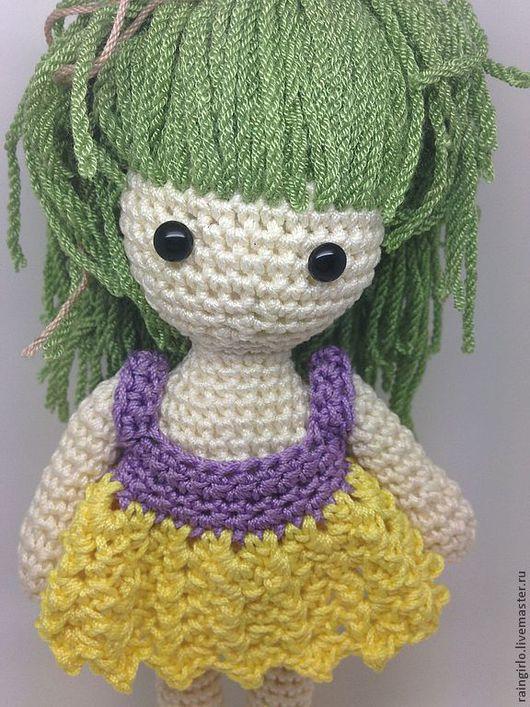 Человечки ручной работы. Ярмарка Мастеров - ручная работа. Купить Куколка. Handmade. Желтый, игрушка, вязаная куколка