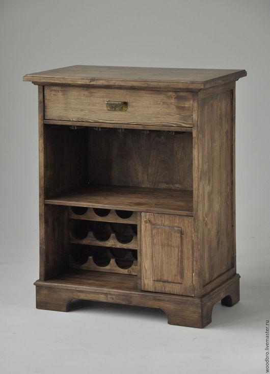Мебель ручной работы. Ярмарка Мастеров - ручная работа. Купить Шкаф для хранения вина и бокалов. Handmade. Шкаф для хранения вина