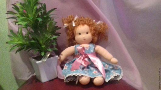 Вальдорфская игрушка ручной работы. Ярмарка Мастеров - ручная работа. Купить вальдорфская кукла Алиса. Handmade. Розовый, кукла в подарок