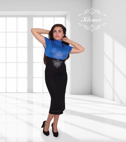 Dresses handmade. Livemaster - handmade. Buy dress knit sapphire'.Women's clothing, dress knitted, dress from klenoc