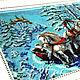 Животные ручной работы. Тройка белых лошадей 36,5 х 46,5. Картины из бисера (biserrussia). Интернет-магазин Ярмарка Мастеров.