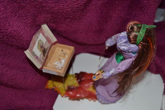 Коллекционные куклы ручной работы. Ярмарка Мастеров - ручная работа. Купить За секунду до шедевра. Handmade. Сиреневый, куклы и игрушки