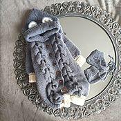 Одежда детская handmade. Livemaster - original item Children`s knitted gray charcoal jumpsuit. Handmade.