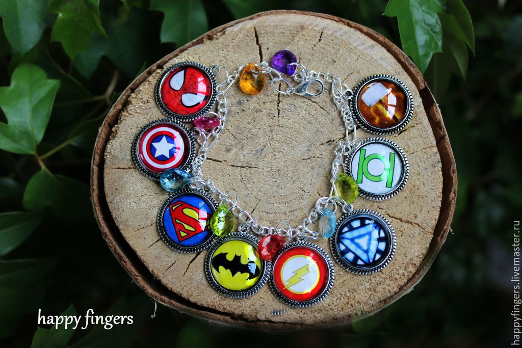 Bracelet 'Superheroes' the Avengers Marvel DC comics avengers, Bead bracelet, Elektrostal,  Фото №1