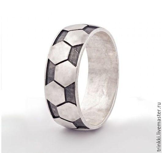 Кольца ручной работы. Ярмарка Мастеров - ручная работа. Купить Футбол, кольцо. Handmade. Футбол, футбол кулон, футбол серебро
