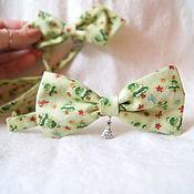 Аксессуары ручной работы. Ярмарка Мастеров - ручная работа галстук - бабочка Новогодняя. Handmade.