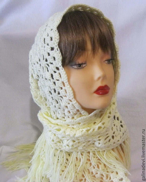 HANDKERCHIEF to the TEMPLE openwork knitted scarf, Kerchiefs, Moscow,  Фото №1