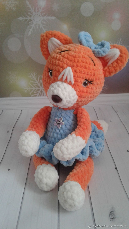 Soft toys: Fox knitted, Stuffed Toys, Ulyanovsk,  Фото №1