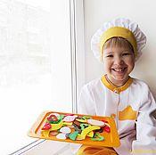 """Куклы и игрушки ручной работы. Ярмарка Мастеров - ручная работа """"МастерШеф"""" - развивающая игра для маленьких кулинаров. Handmade."""