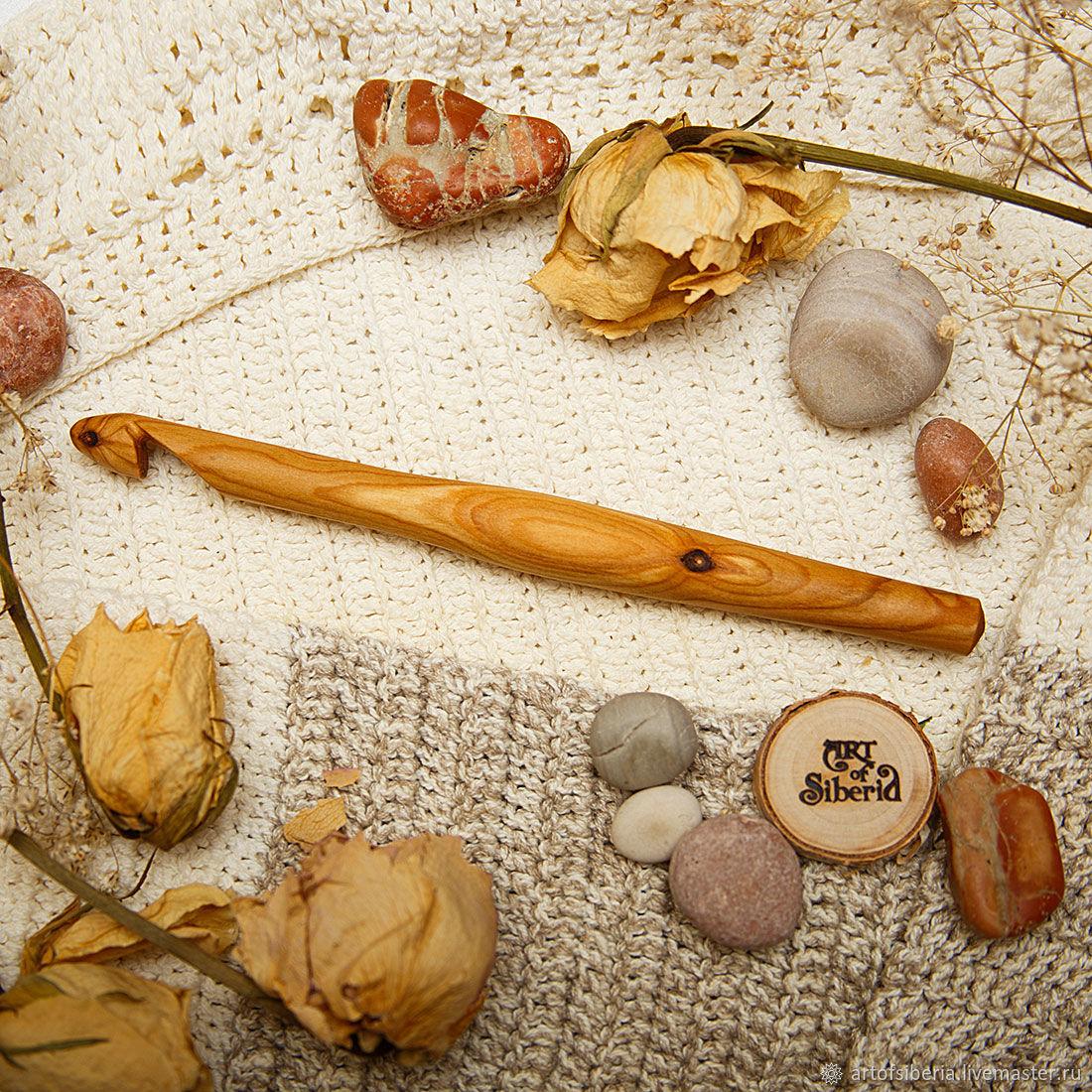 Деревянный Крючок для вязания 12 мм Вишня Крючки из дерева #K57, Инструменты для вязания, Новокузнецк, Фото №1