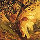 Пейзаж ручной работы. Ярмарка Мастеров - ручная работа. Купить Картина Осенняя Нирвана в технике маркетри. Handmade. Оранжевый, осень