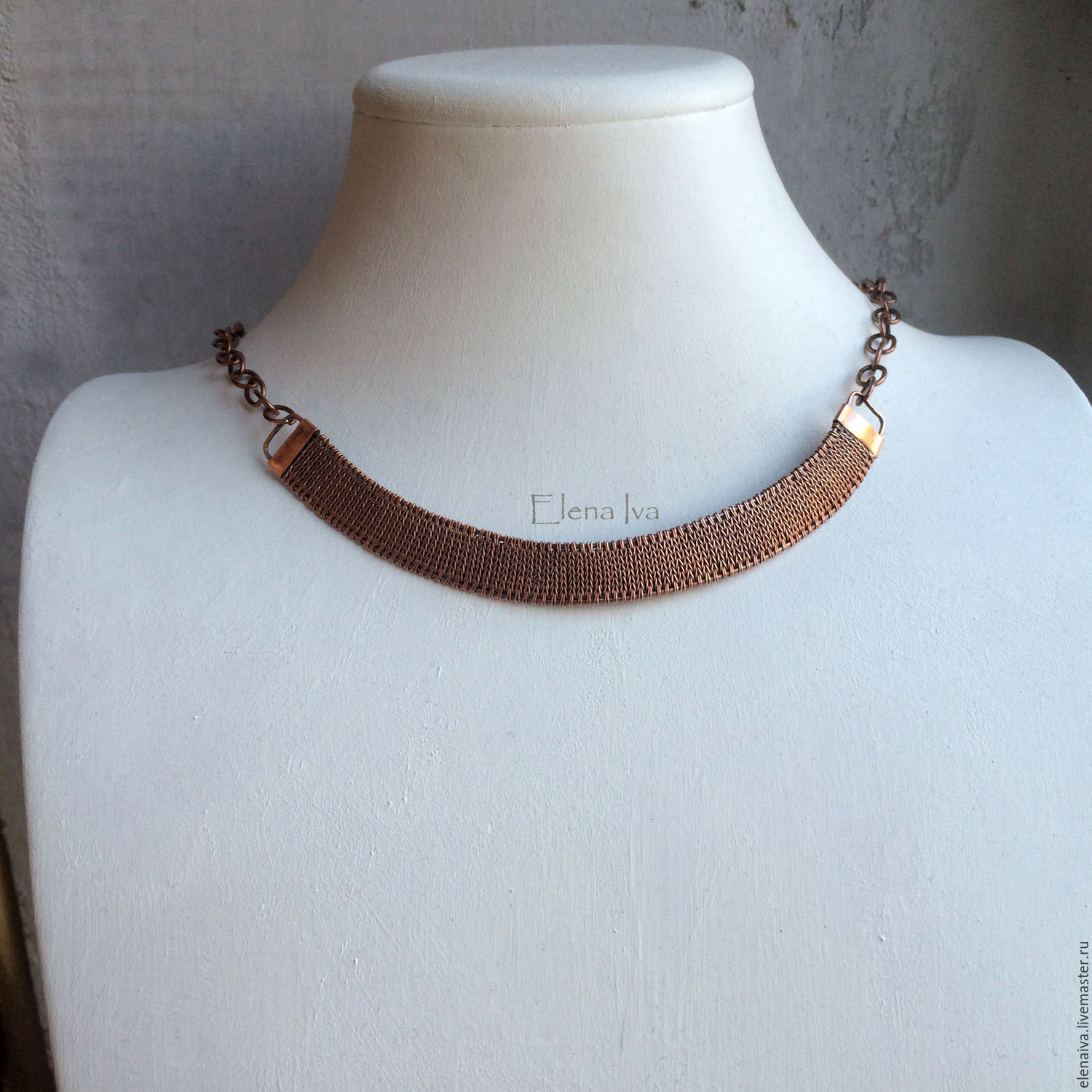 Necklace copper Knitting – shop online on Livemaster with shipping ...