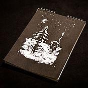 """Блокноты ручной работы. Ярмарка Мастеров - ручная работа Блокнот """"Зима"""". Handmade."""