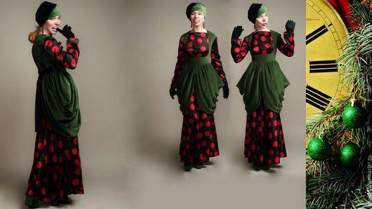 """Платья ручной работы. Ярмарка Мастеров - ручная работа. Купить Ретро комплект """" Новогоднее настроение"""". Handmade. Комбинированный"""