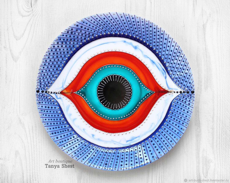 Decorative Tableware handmade. Livemaster - handmade. Buy Decorative plate \u0027Nazar Eye\u0027 hand ... & Decorative plate \