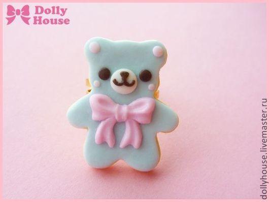 """Кольца ручной работы. Ярмарка Мастеров - ручная работа. Купить Кольцо """"Сахарный Мишка"""" 2. Handmade. Dolly house"""
